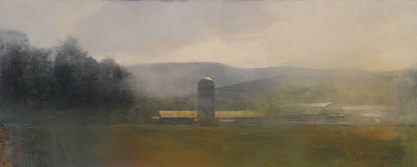 Morning, oil on panel, 12 x 30.
