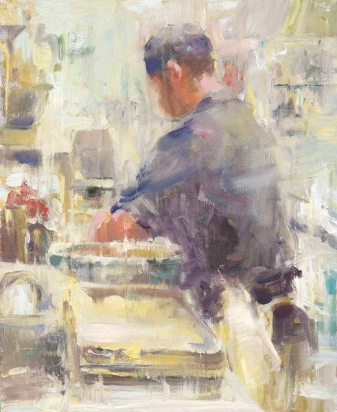 E. Melinda Morrison, Rollin' in the Dough, oil, 20 x 16.