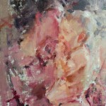 Carolyn Anderson   Mother's Kiss, oil, 16 x 12.