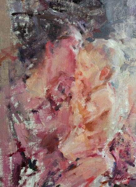 Carolyn Anderson | Mother's Kiss, oil, 16 x 12.
