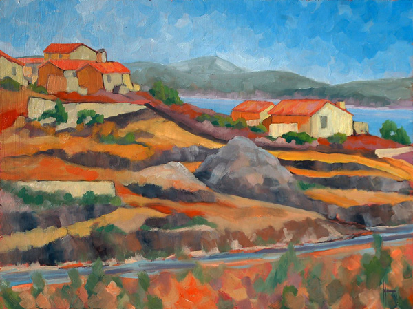 Murray Wagnon, The Road to L'Estaque, oil, 18 x 24.
