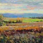 Nicolo Balkanski, Addenbrooke Park, oil, 10 x 20.