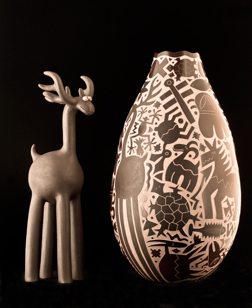 Jody Naranjo won the top prize in the pottery classification at last year's Indian Market.