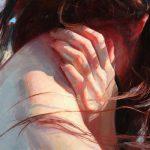 Theresa Morgan, Self Portrait, oil, 24 x 36.
