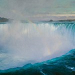 Curt Walters, Niagra Falls, oil, 42 x 90.