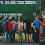 Najin Bae, Hong Kong Express, oil, 15 x 30.
