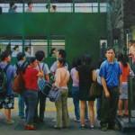 Najin Bae, Hong Kong Express, oil, 15 x 30.