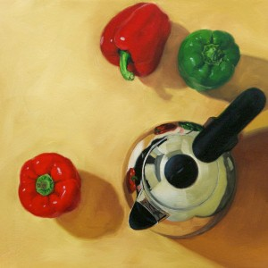 Najin Bae, The Spicy Kettle, oil, 16 x 16.