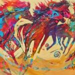 Nancy Christy-Moore, New Horizons, acrylic, mixed media, 30 x 40.