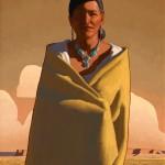 Logan Maxwell Hagege, Navajo Sky, oil, 26 x 16.