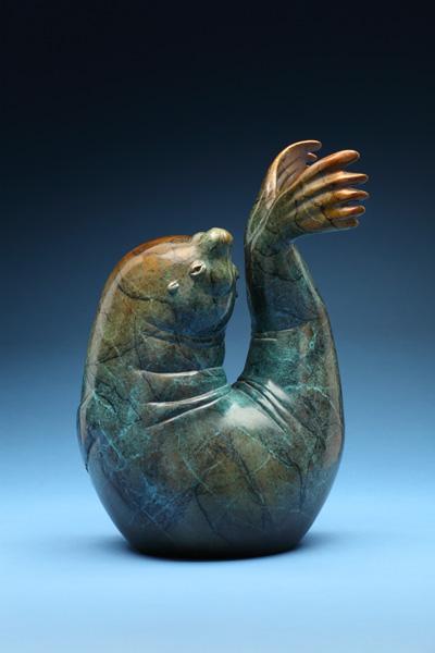 Joshua Tobey, Neptune, bronze, 12 x 8 x 5.