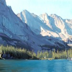Nicholas Reti, oil, Loch Shadows, oil, 16 x 20.