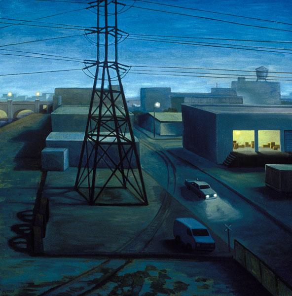 Night Drop, oil, 36 x 36.