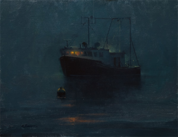Marc Hanson, Night Light, oil, 11 x 14.