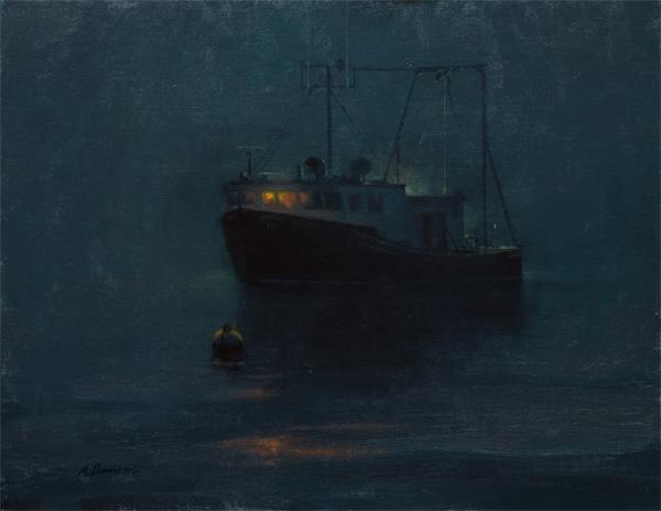 Marc Hanson, Night Light, oil, 11 x 14.