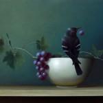 Sarah Siltala, Night Visit, oil, 16 x 20.