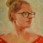Meghan N. Sours, Nina, oil, 12 x 9.