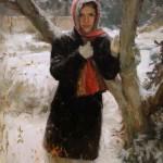 Johanna Harmon, Noelle, oil, 36 x 24.
