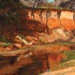 Kay Northup, Palo Alto Spring, oil, 24 x 38.