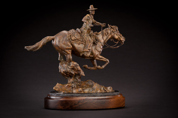 Curt Mattson, Not Even Close, bronze, 13 x 13 x 7.