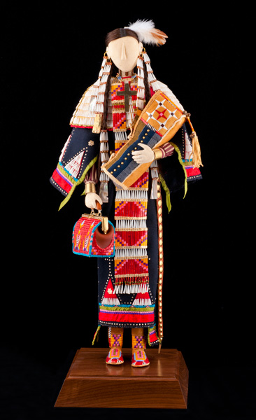 Jamie Okuma, 2012 Best of Classification winner, beadwork and quillwork.