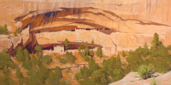 Ralph Oberg, Ancient Abstract, 18 x 36.