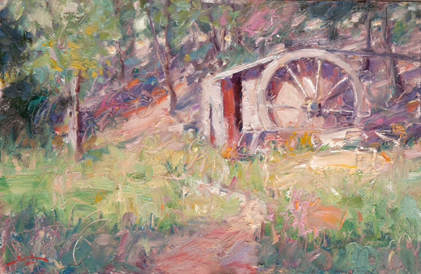 Dan Beck, Old Mill, oil, 12 x 18.