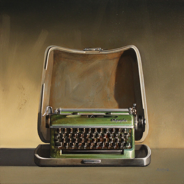 Wendy Chidester, Olympia Portable, oil, 27 x 27.