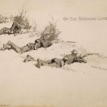 Frederic Remington, On the Skirmish Line, 1894, ink wash, 24 x 29 x 13.