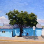 Timothy Horn, One Way Blue, oil, 12 x 16.