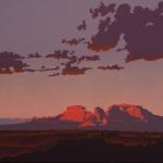 Billy Schenck, One Last Mesa, oil, 20 x 30.