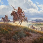 John Potter, High Spirits, oil western painting