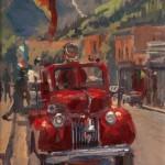 Rita Pacheco, Little Red, oil, 8 x 10.