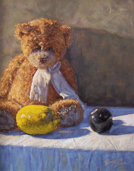 Scott Prior, Paddington's 8-Ball, oil, 20 x 16.