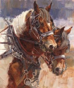 Lindsey Bittner Graham, Paint Team Thunder, oil, 36 x 30.