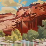 David Jonason, Painted Canyon, oil, 16 x 20.