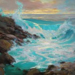 Kyle Paliotto, Big Island Surf, oil, 24 x 30.