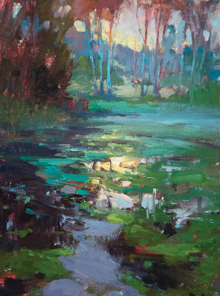 Kyle Paliotto, Frogs and Crickets, oil, 12 x 9.