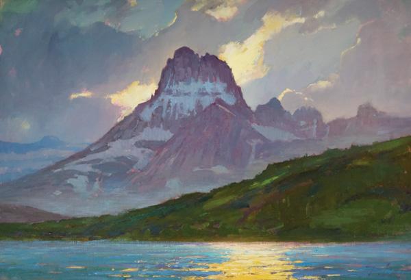Kyle Paliotto, Many Glacier, oil, 30 x 44.