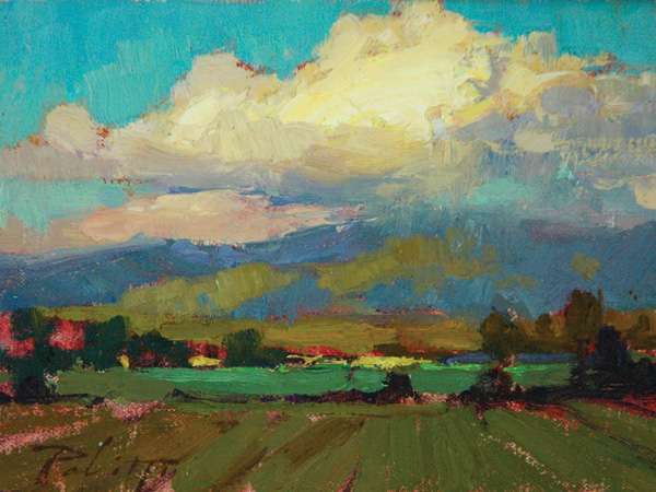 Kyle Paliotto, Peace in the Valley, oil, 6 x 8.