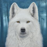 Tom Palmore, White Wolf, oil/acrylic, 30 x 40.