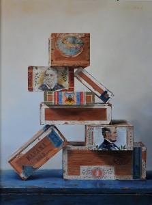 Pamela Carroll , Up in Smoke, oil, 24 x 18.
