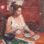 Dan Beck, Pamela, oil, 16 x 20.