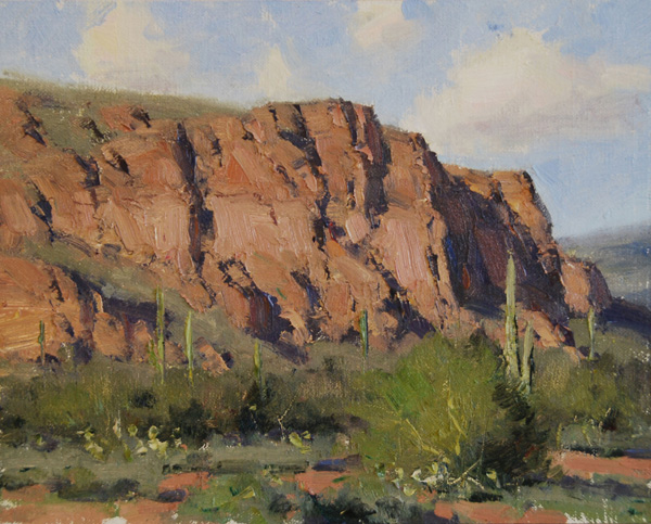Dan Young, Peralta Cliffs, oil, 8 x 10.
