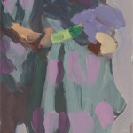 Peggi Kroll-Roberts, Patterned Robe, oil, 12 x 5.