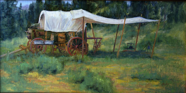 Patti Andre, Pork and Beans, oil, 12 x 24.
