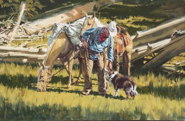 Paul Mann, Trusted Friend, oil, 24 x 36.