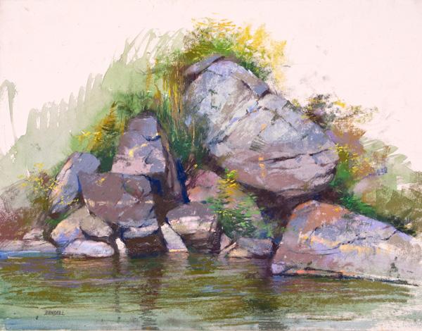 Albert Handell, Peaceful Morning, pastel, 14 x 18.