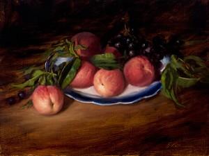 Elizabeth Robbins, Peaches, oil, 11 x 14.