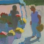 Peggi Kroll-Roberts, Farmers Market 1, oil, 8 x 8.